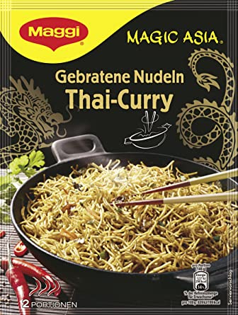 Maggi Magic Asia Gebratene Nudeln Thai Curry Asiatisches