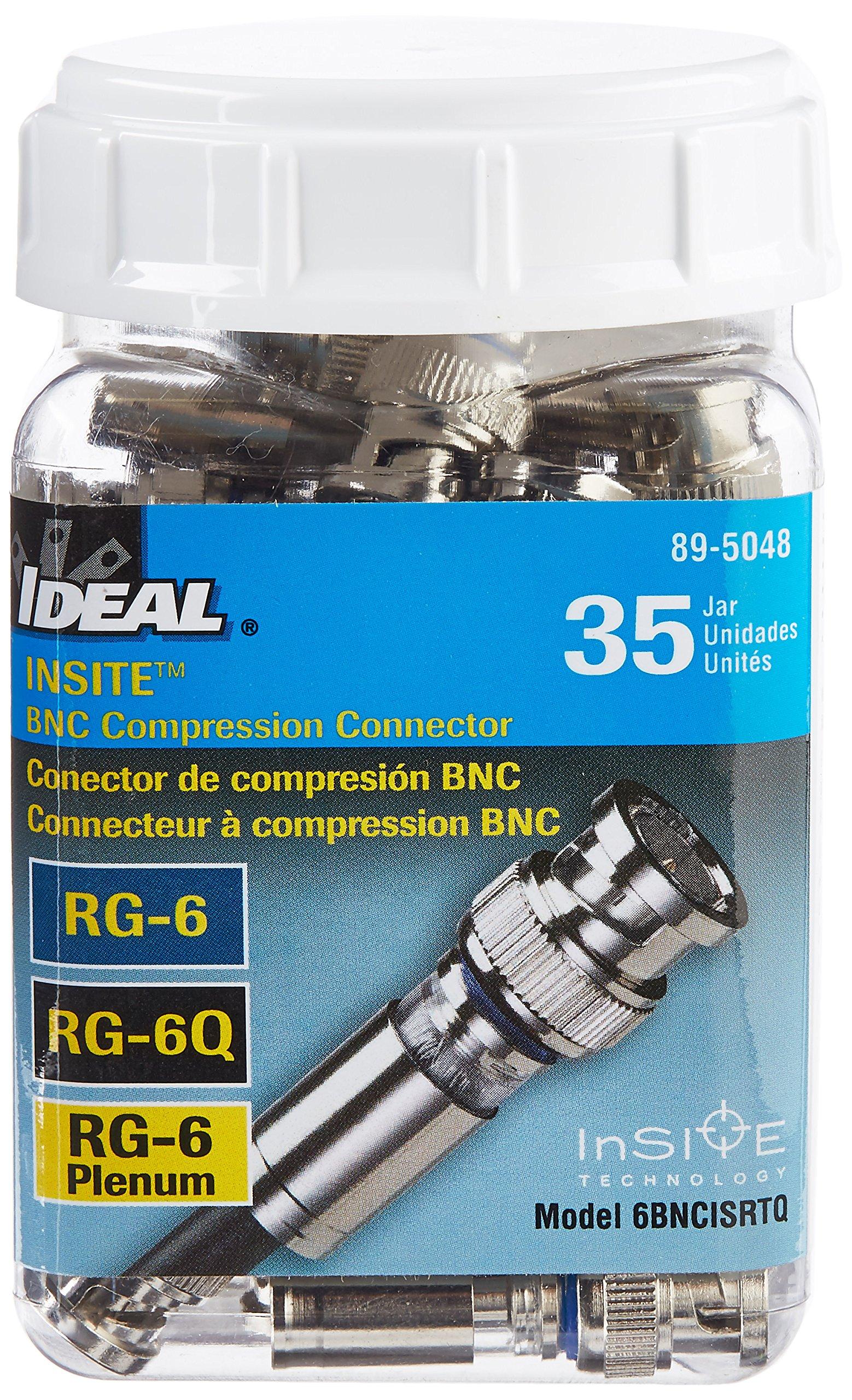Ideal 89-5048 RG-6 BNC Compression Connector