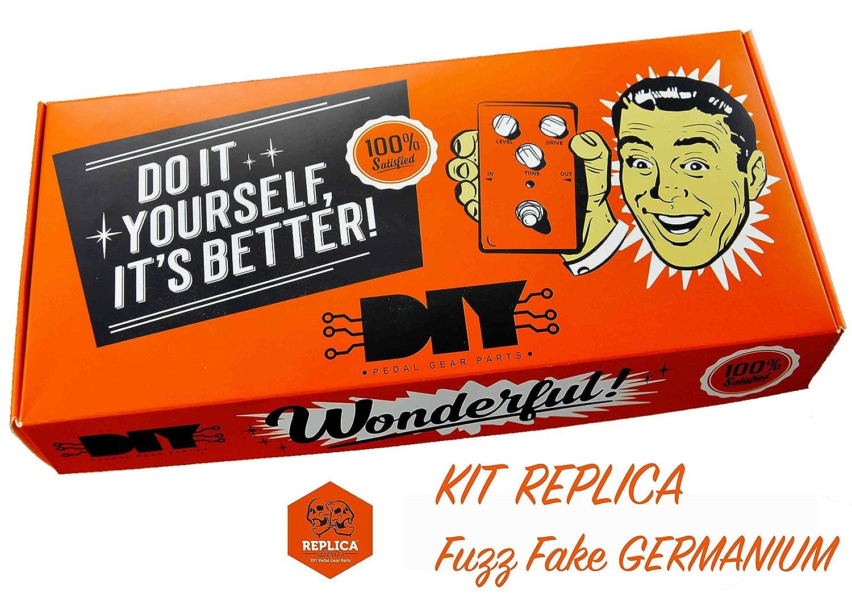 diypedalgearparts® Kit Replica Fuzz Fake Germanio AC128 (Fuzz Face): Amazon.es: Instrumentos musicales