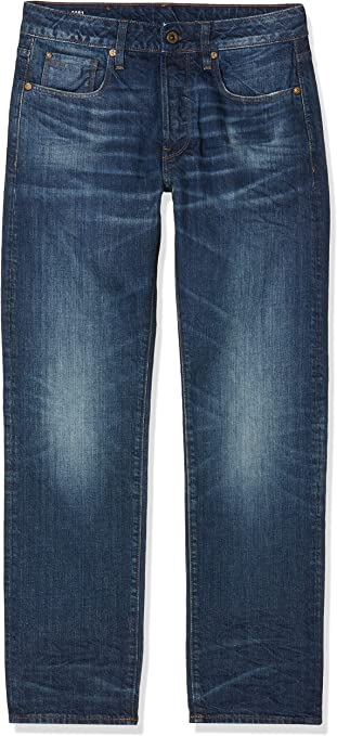 TALLA 34W / 34L. G-STAR RAW 3301 Straight Fit Jeans para Hombre