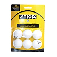 STIGA - Pelotas de Tenis de Mesa (1 Estrella, 6 Unidades)