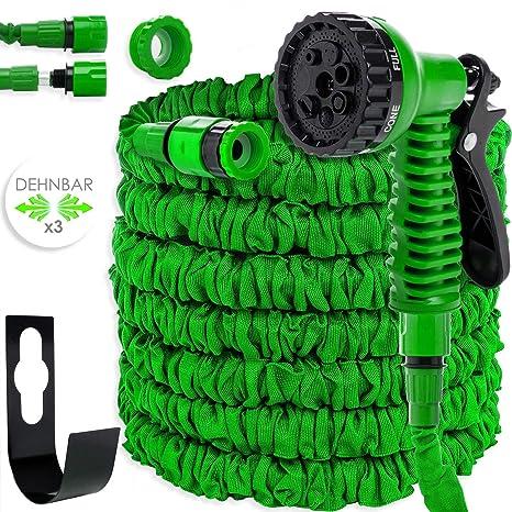 Kesser® 45m Flexibler Gartenschlauch Basic Wasserschlauch dehnbarer Flexischlauch Multisfunktionsbrause mit 8 Funktionen, Ada