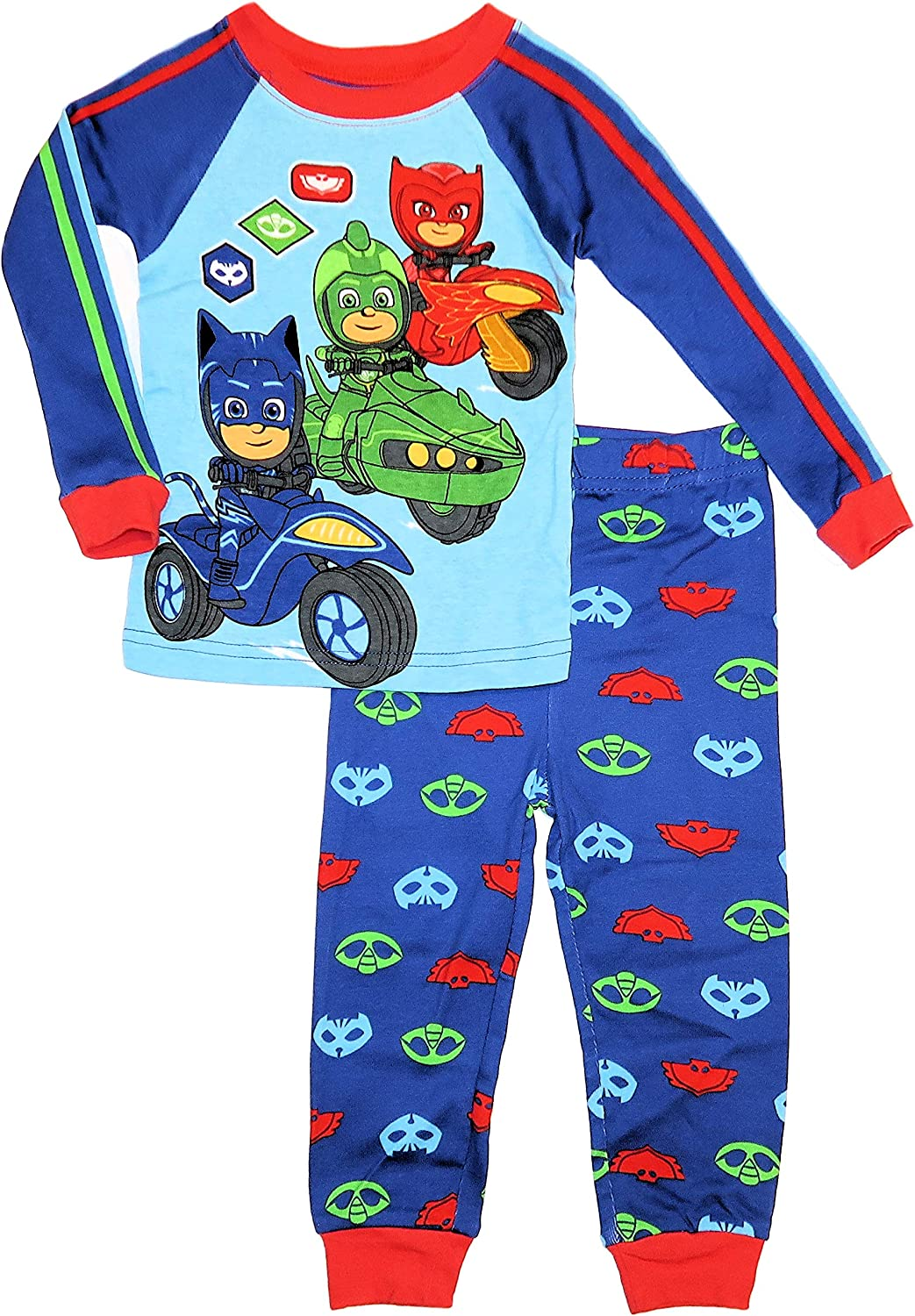 AME PJ Masks Baby Boys Size 18 Months 2-Cotton Pajama Sets Blue//Red//Green