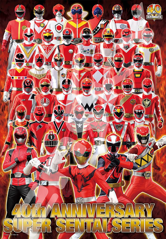 500 piece jigsaw puzzle Super sentai 40 piece-LEGEND RED-pieces (51x73.5cm)