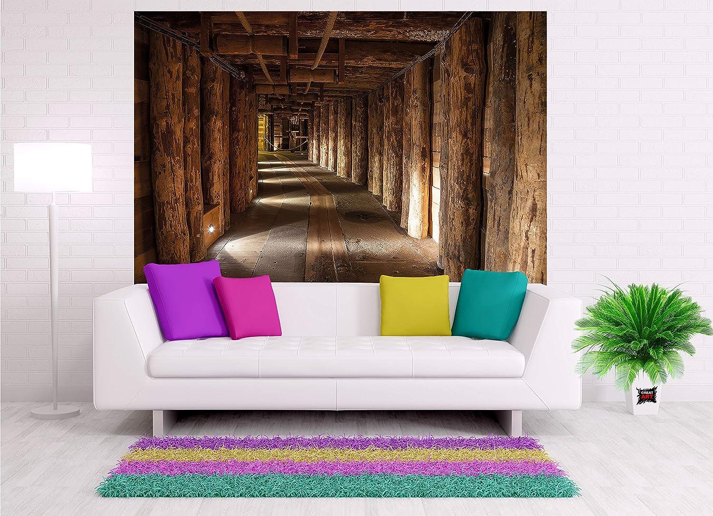 Decorazioni Per Interni Pittura Murale Miniera Di Sale Wieliczka In Polonia Patrimonio Dellunesco Patrimonio Mondiale Travi Di Legno Decorazione 140 X 100 Cm Miniera Di Sale Great Art Xxl Poster Casa E