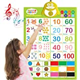 LVAP Bilingual Talking Poster: Music + 123s + Shapes + Colors Eng & Spanish + Songs - Perfect Educational Toys for 2…