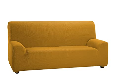 Martina Home Tunez - Funda elástica para sofá, Mostaza, 3 Plazas (180-240 cm)