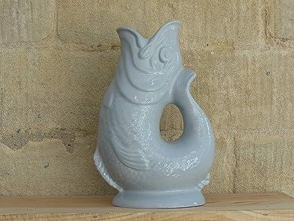 Wade Ceramics Gluggle Jug Large Light Gray