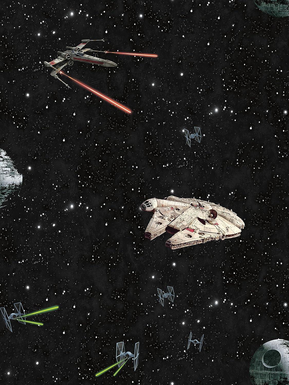York Wallcoverings Disney Kids Iii Star Wars Classic Ships Removable Wallpaper Blacks Amazon Com
