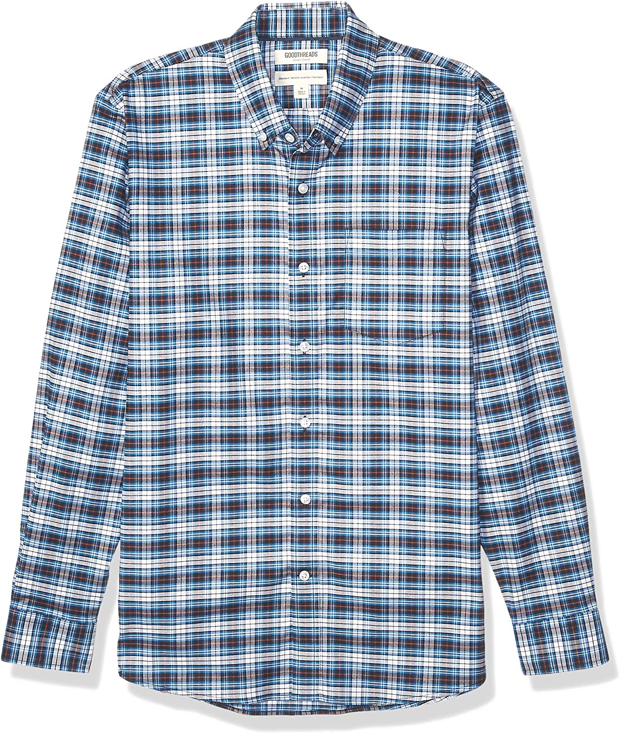 All Hours Goodthreads Mens Standard-fit Long-Sleeve Stretch Oxford Shirt