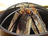 "Catalina Creations AD544 34"" Round Cauldron Wood"