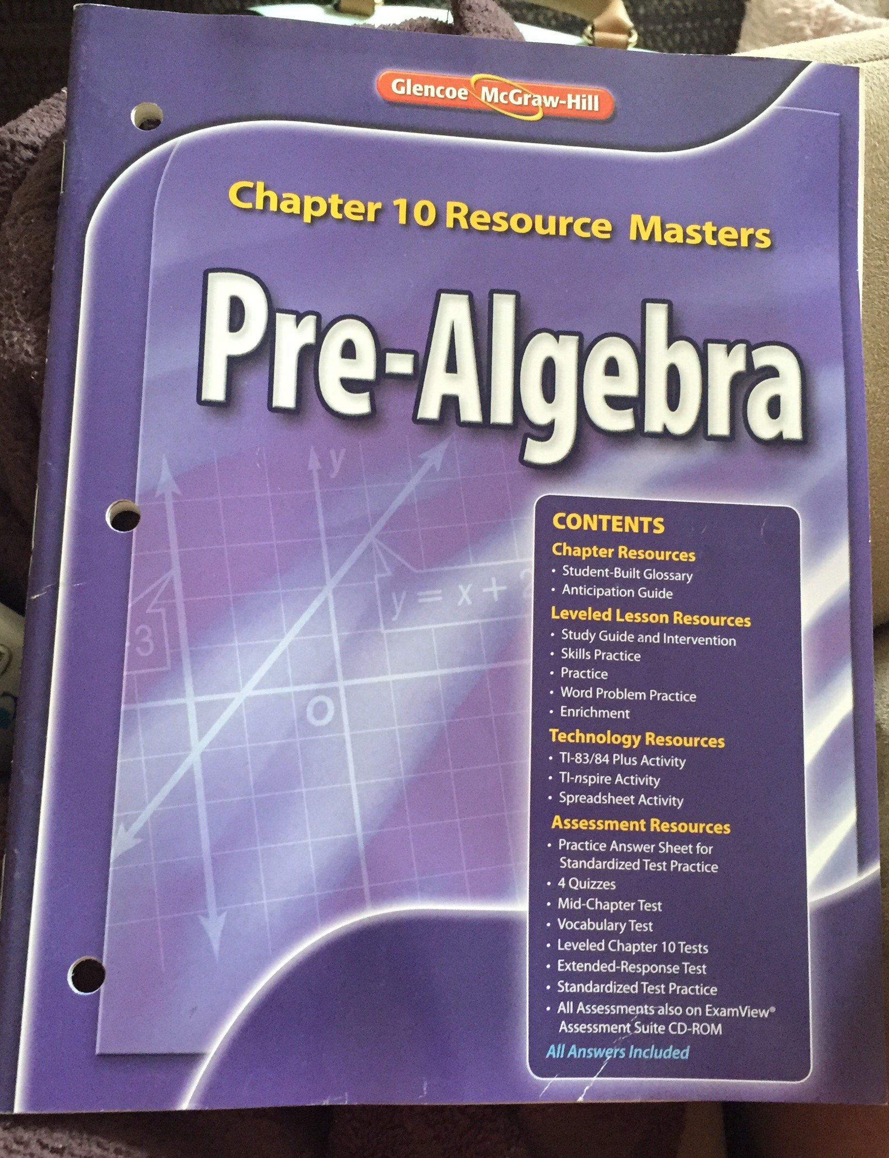 Glencoe Pre-Algebra Chapter 10 Resource Masters