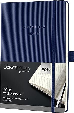 Sigel C1862 - Agenda semanal, color azul oscuro