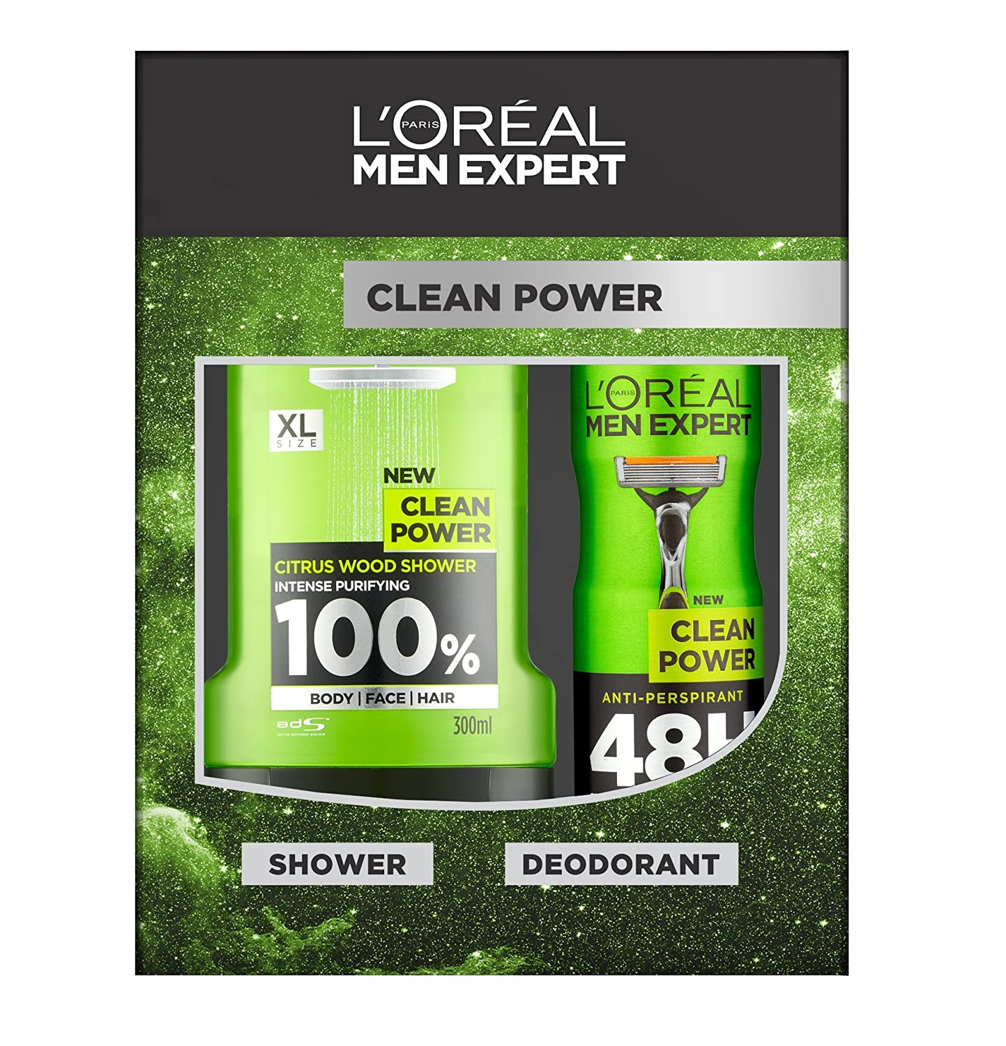 L'Oreal Men Expert Clean Power 2-Piece Gift Set L' Oreal 5011408087505