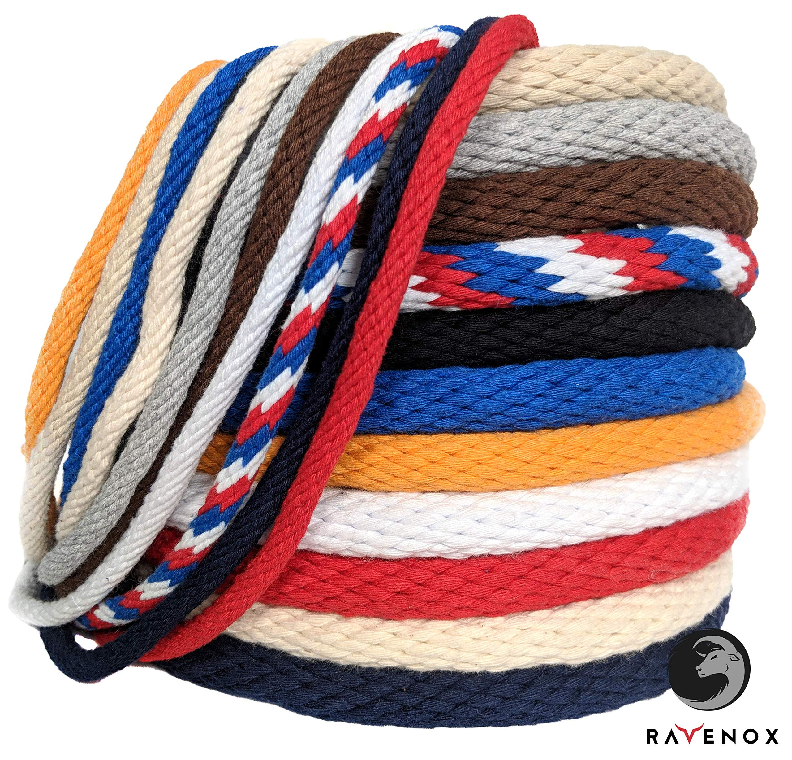 Ravenox Solid Braid Cotton Rope | (Royal Blue)(1/4-in x 25 FT) | Made in The USA | Used as Sash Cord, Clothesline, Macrame Projects, Utility Rope and More | Variety of Colors and Lengths by Ravenox