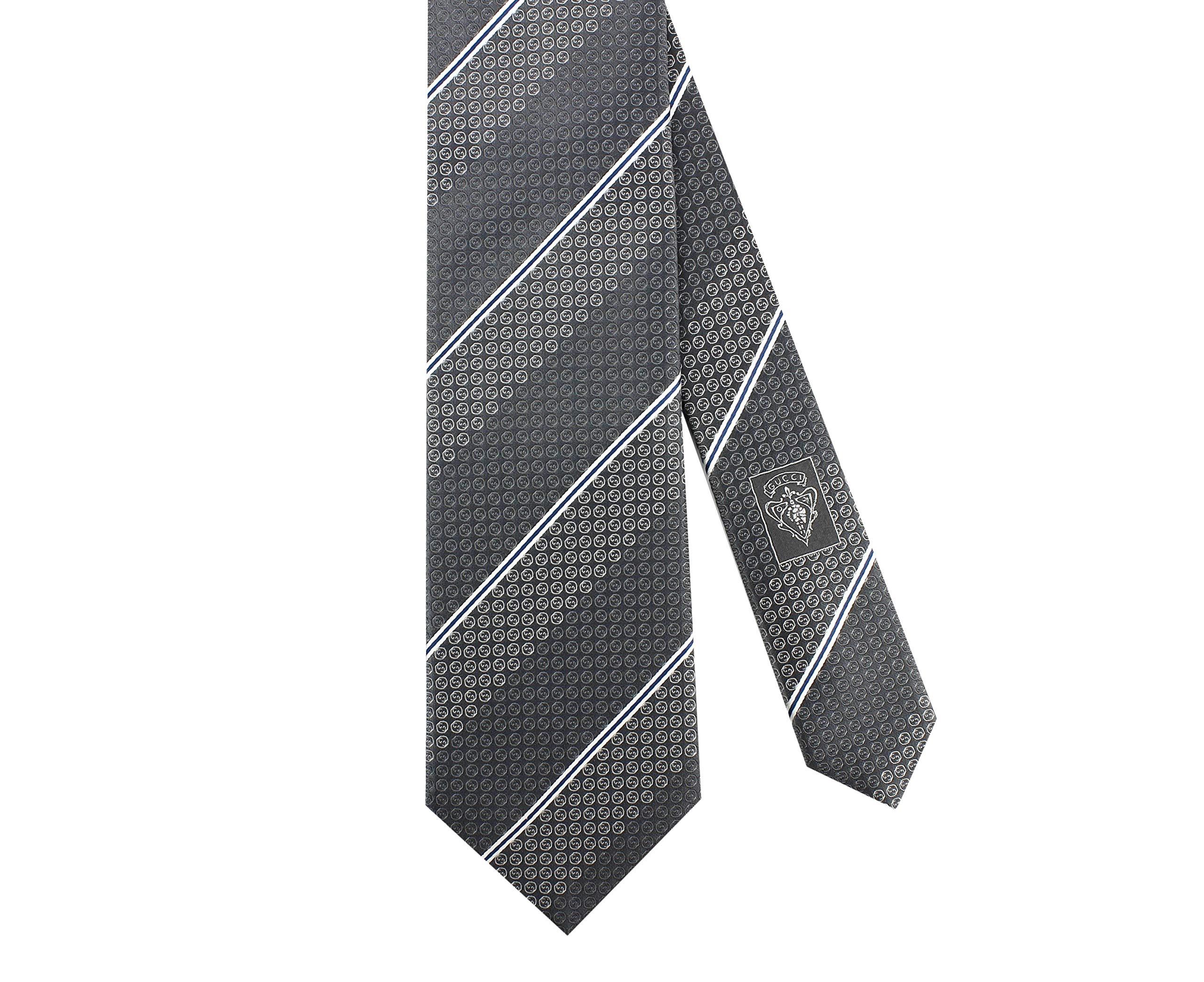 Gucci 'Imera' Micro GG Woven Italian Silk Tie, 3.25'' (8 cm) Grey 386487