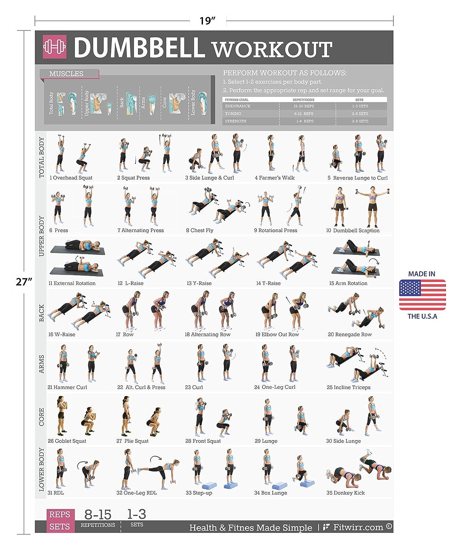 Mancuernas ejercicios entrenamiento - Póster laminado ...