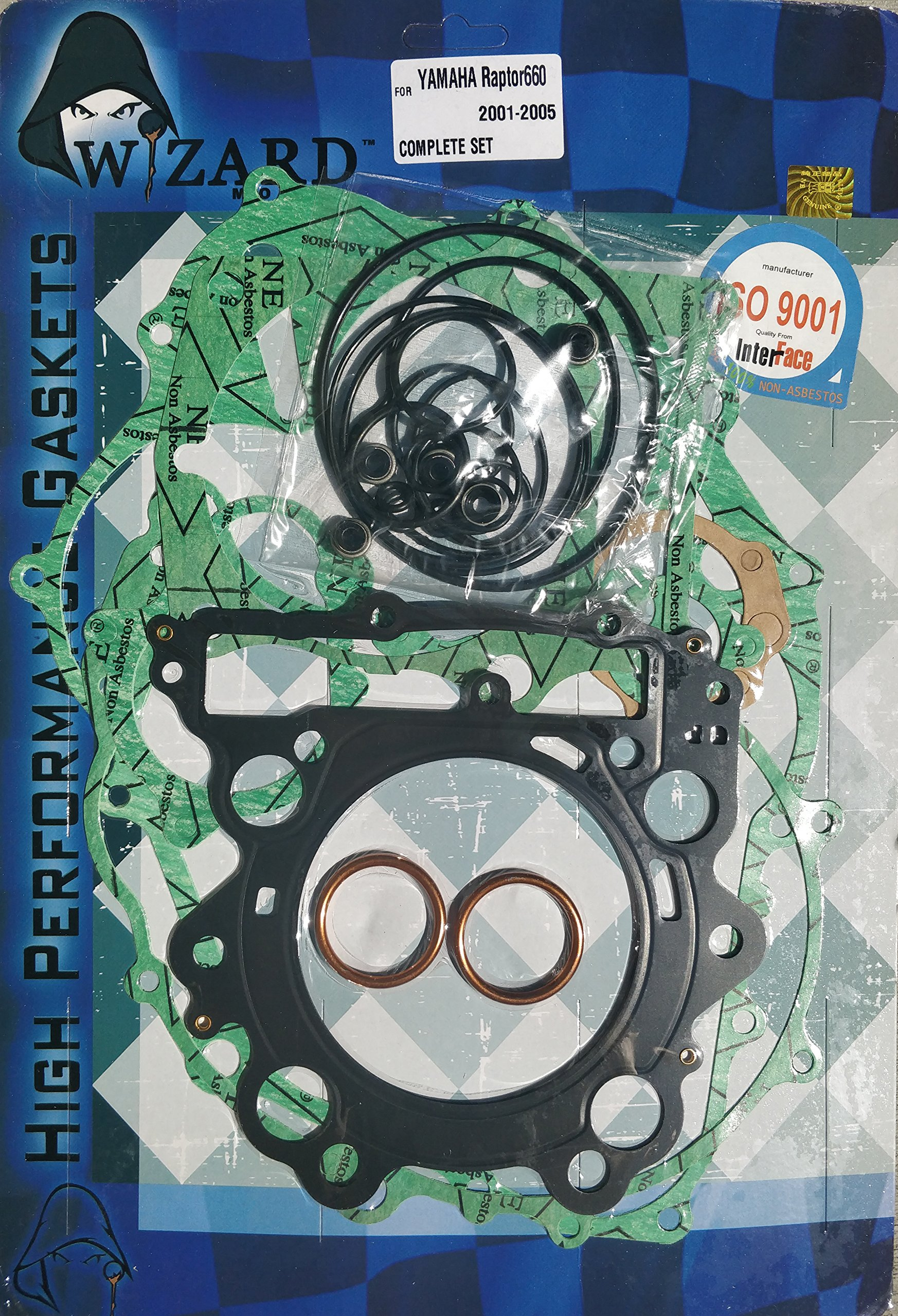 Yamaha Raptor 660 Complete Engine Gasket Set Top and Bottom end Gaskets (2001-2005) by Wizard Moto