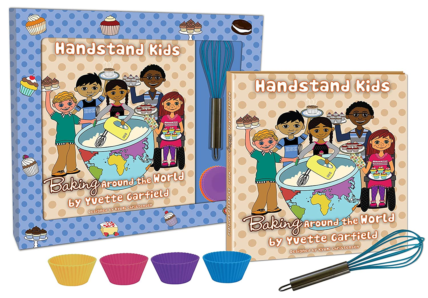 Handstand Kids in the Kitchen Baking Around the World Cookbook Gift Set LLC K001T