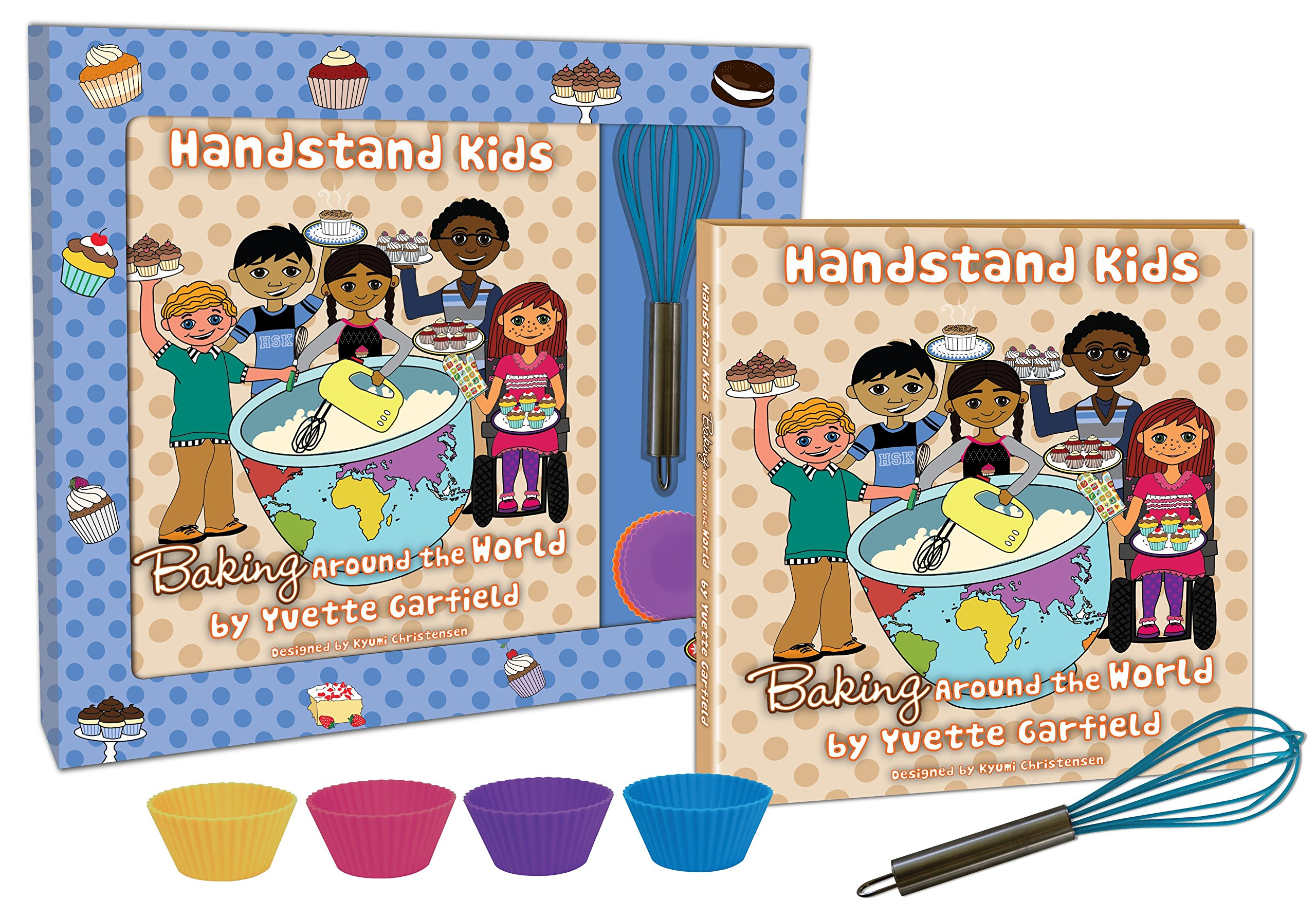 Handstand Kids in the Kitchen Baking Around the World Cookbook Gift Set