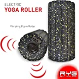 Raise Your Game RYG 4-Speed Vibrating Electric Muscle Foam Roller, Thick Firm High Density Trigger Point Massager Kit for Myofascial Release, Electronic Physical Ther