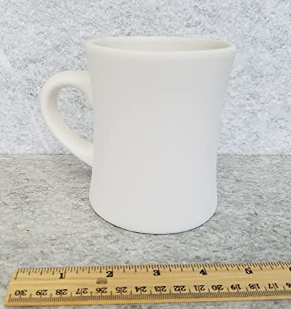 Unpainted, ready for glaze Bisque Jumbo Cappuccino Mug