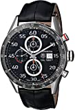 TAG Heuer Men's CAR2A10.FC6235 Carrera Stainless Steel Automatic Watch with Black Leather Band