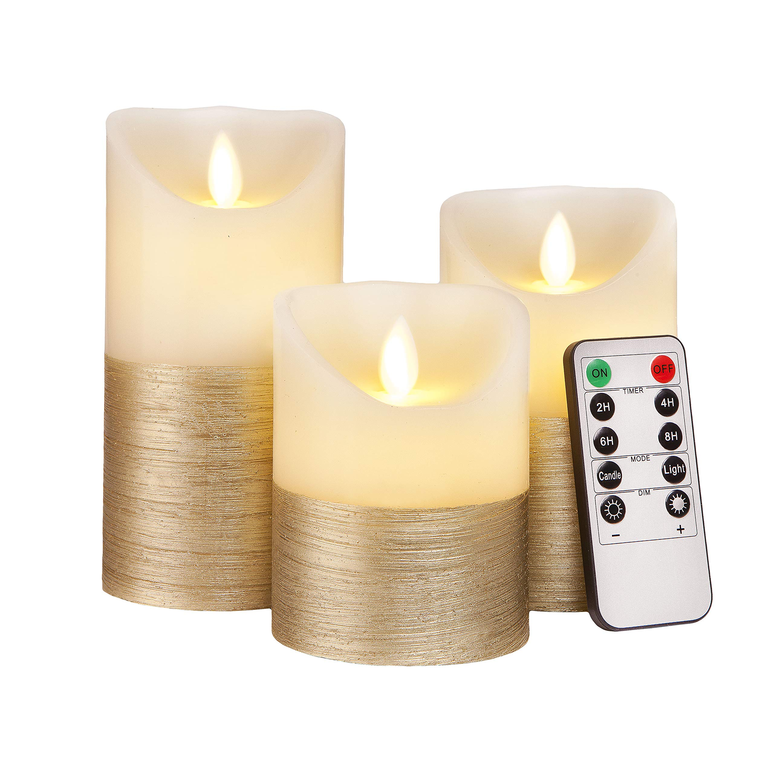 Flameless Dancing Flame Flickering Candle with Timer 3 sizes available
