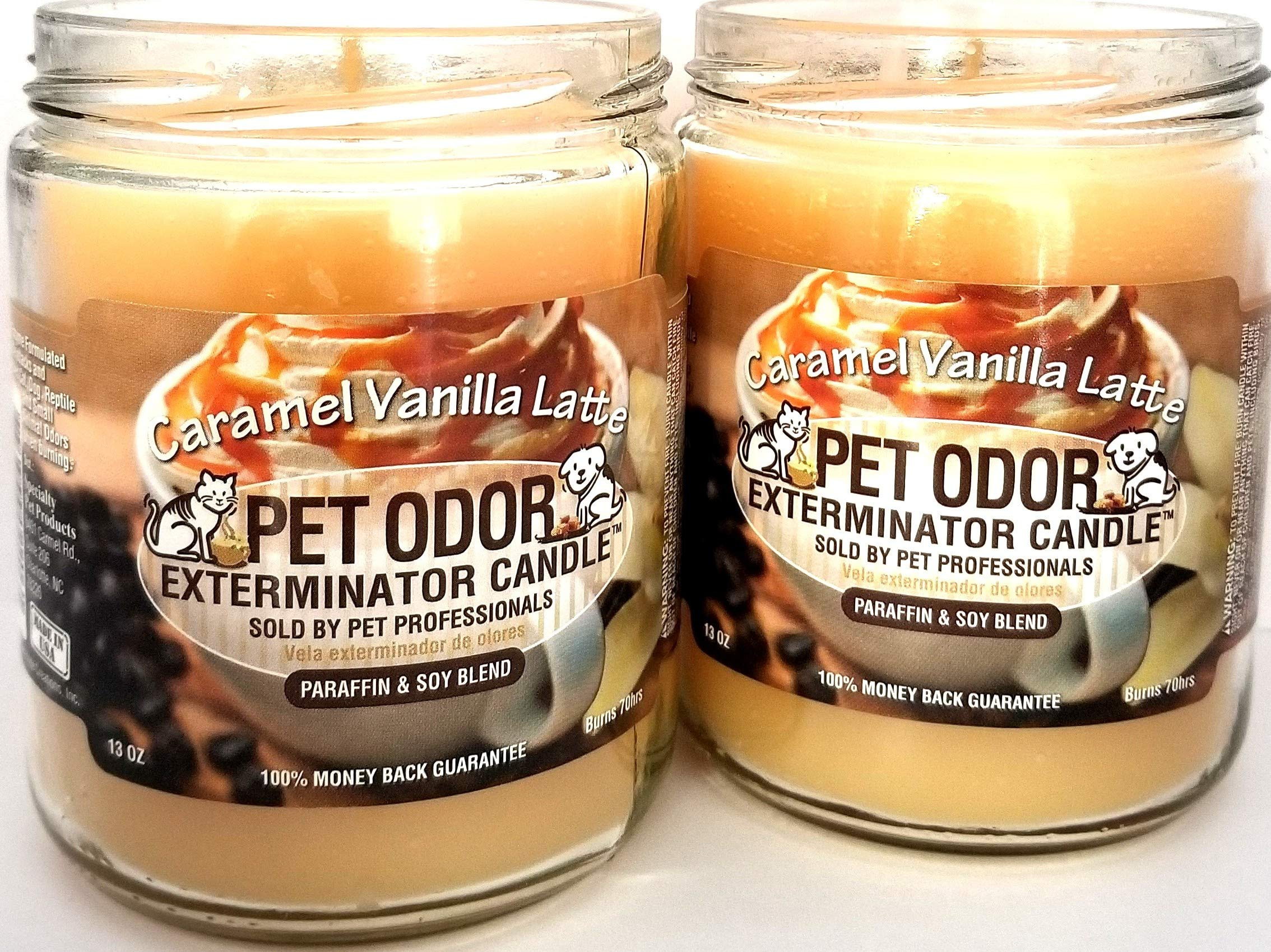 Specialty Pet Products Pet Odor Exterminator Candle, Caramel Vanilla Latte - Pack of 2
