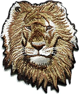 30 Pcs Embroidered Iron on patches White Lion AP025Wi
