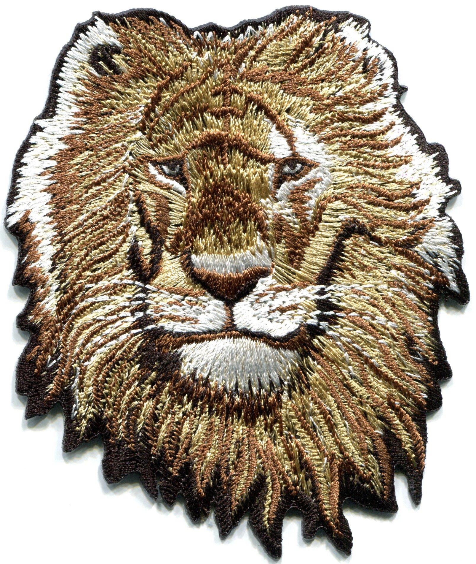 Lion cat Puma Jaguar Tiger Cheetah Animal Wildlife Predator Embroidered Applique Iron-on Patch S-587