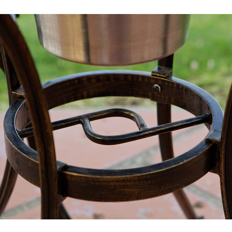 Aluminum bucket chairs - Amazon Com Palermo 3 Pcscast Aluminum Outdoor Bistro Set W Ice Bucket Patio Lawn Garden
