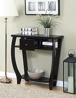 Amazon.com: Porthos Home Cosette 2 Drawer Side Table, White ...