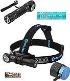 Olight H2R Nova 2300 Lumen LED Rechargeable Flashlight H1R upgrade version, Headlamp w/headband, Clip, Customized 18650 Battery, magnetic USB charging cable, LegionArm sticker (LED: Neutral White)