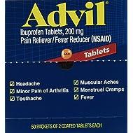 SCS Advil Ibuprofen Tablet Packets - 50 pks. of 2 ct.
