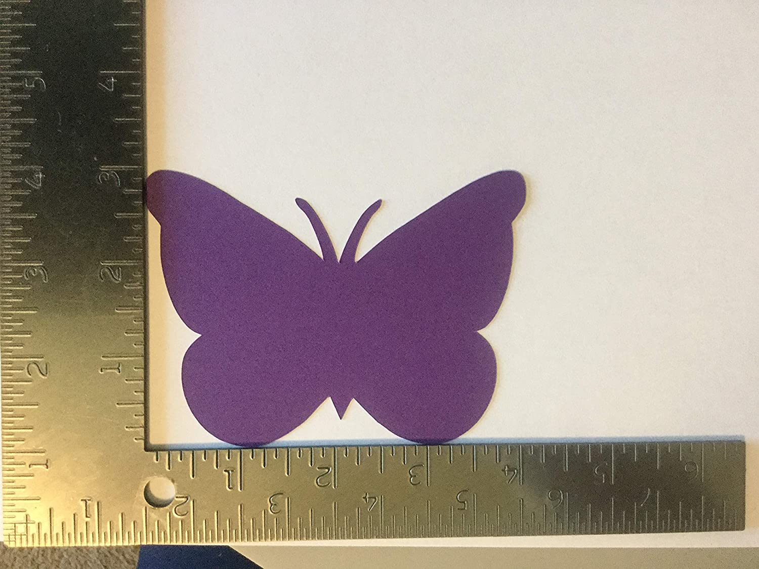 Baby Shower 3x4 Inch Butterfly Wedding 25 Shades of Purple Paper Butterfly Die Cuts Large Butterfly Confetti Birthday