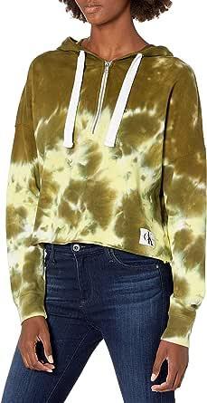 Calvin Klein Jeans Junior's High Tide Tie Dye 1/4 Zip Hoodie