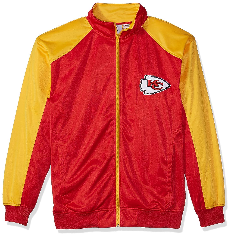 NFL Mens Chiefs Full Zip Tricot Track Jack