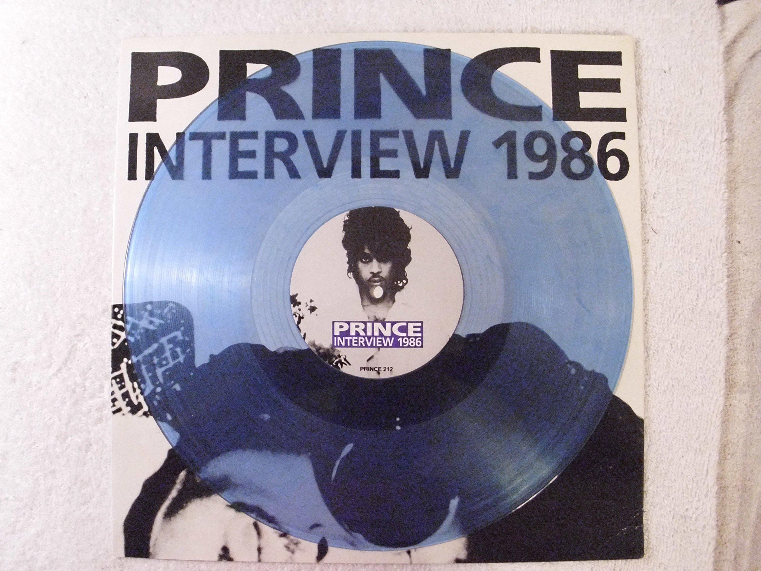 Prince Interview 1986 BLUE Vinyl UK Import LP