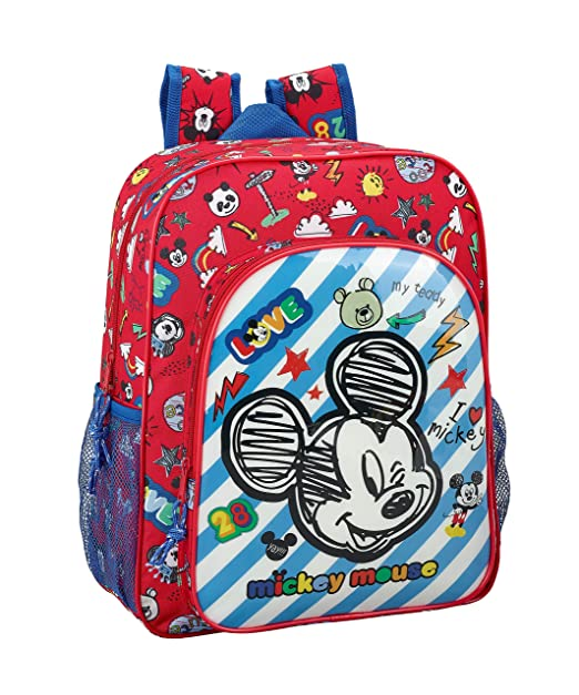 "Mickey Mouse ""Maker"" Oficial Mochila Escolar Junior 320x120x380mm"