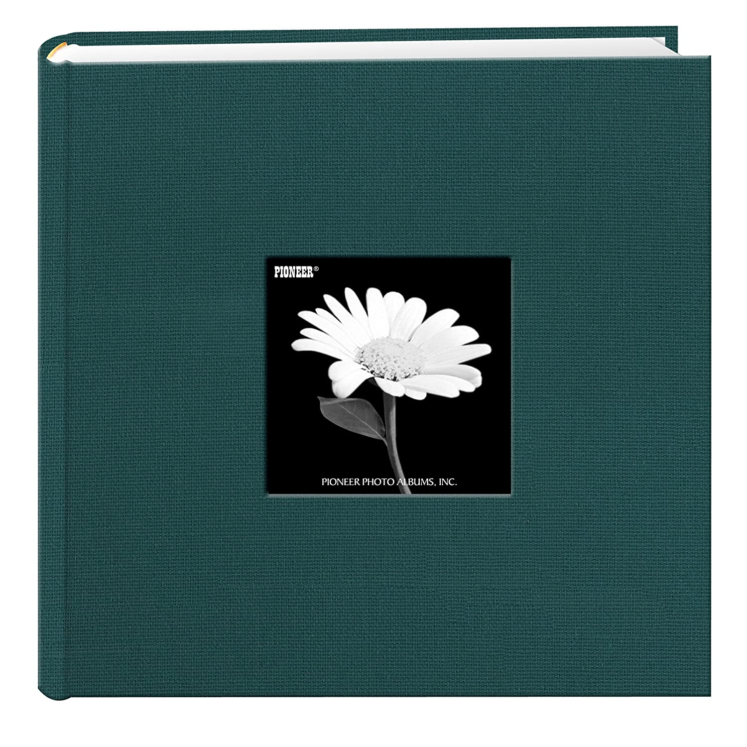 Fabric Frame Cover Photo Album 200 Pockets Hold 4x6 Photos, Tranquil Aqua Pioneer Photo Albums DA200CBFN/TA