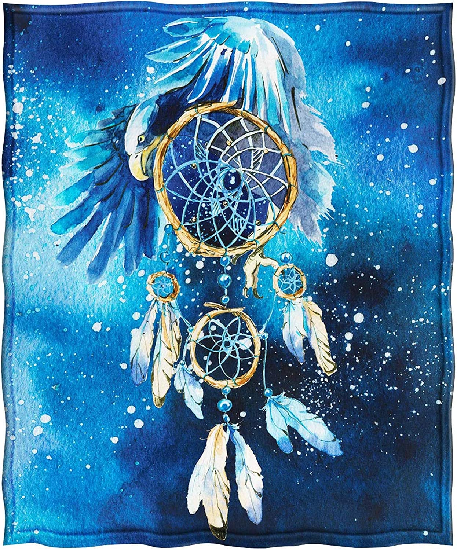 oto/ño HUGS IDEA Manta de forro polar de franela atrapasue/ños /águila galaxia azul de franela de felpa suave manta de cama manta perfecta para cama 2XL sof/á invierno y primavera sof/á