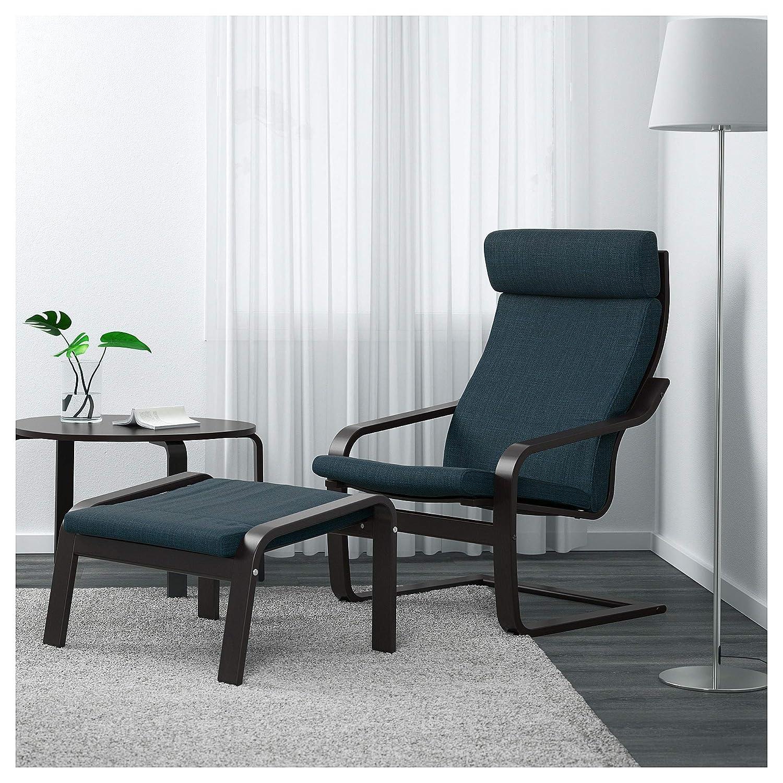Black-Brown IKEA. Hillared Dark Blue 891.978.14 Po/äng Armchair