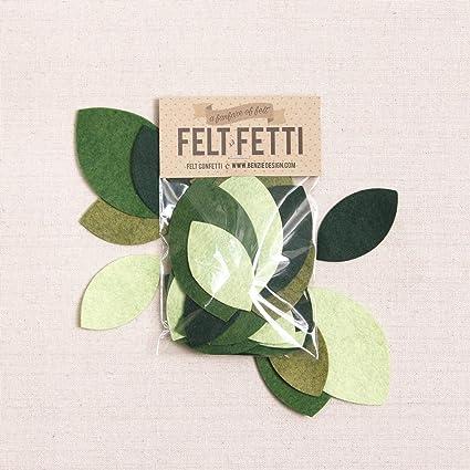 Amazon com: Felt-Fetti Magnolia Leaf, die Cut Shapes, Felt