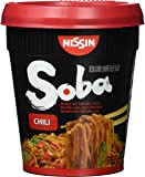 Nissin Soba Cup Chili, 4er Pack (4 x 92g Becher)