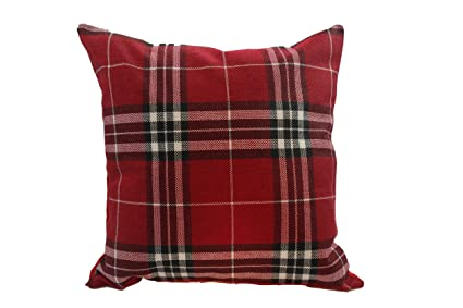 Amazon Plaid 40x40 Inches Tartan Plaid Style On Soft Cotton Best Tartan Pillow Covers
