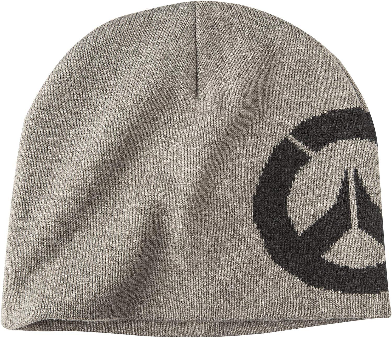 Gray JINX Overwatch Headshot Knit Pom Knit Beanie One Size