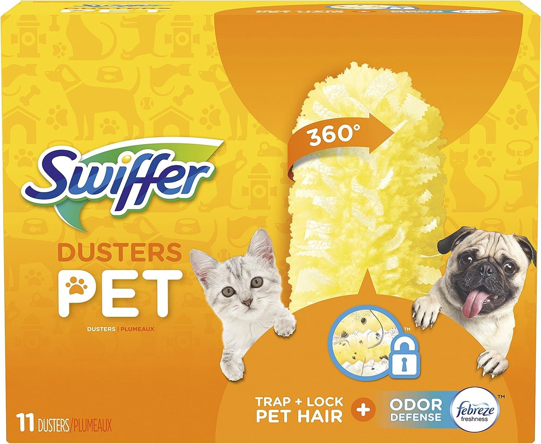Swiffer 360 Dusters Multi Surface Pet Refills, Febreze Odor Defense, 11 Count