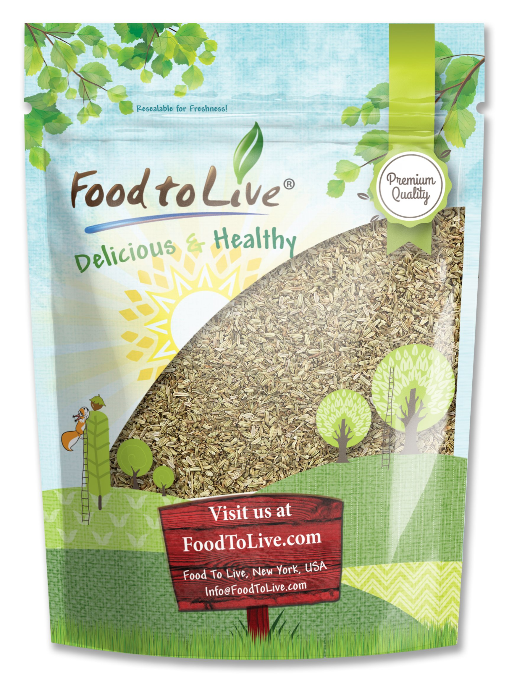 Fennel Seed Whole by Food to Live (Kosher, Bulk) — 2 Ounces