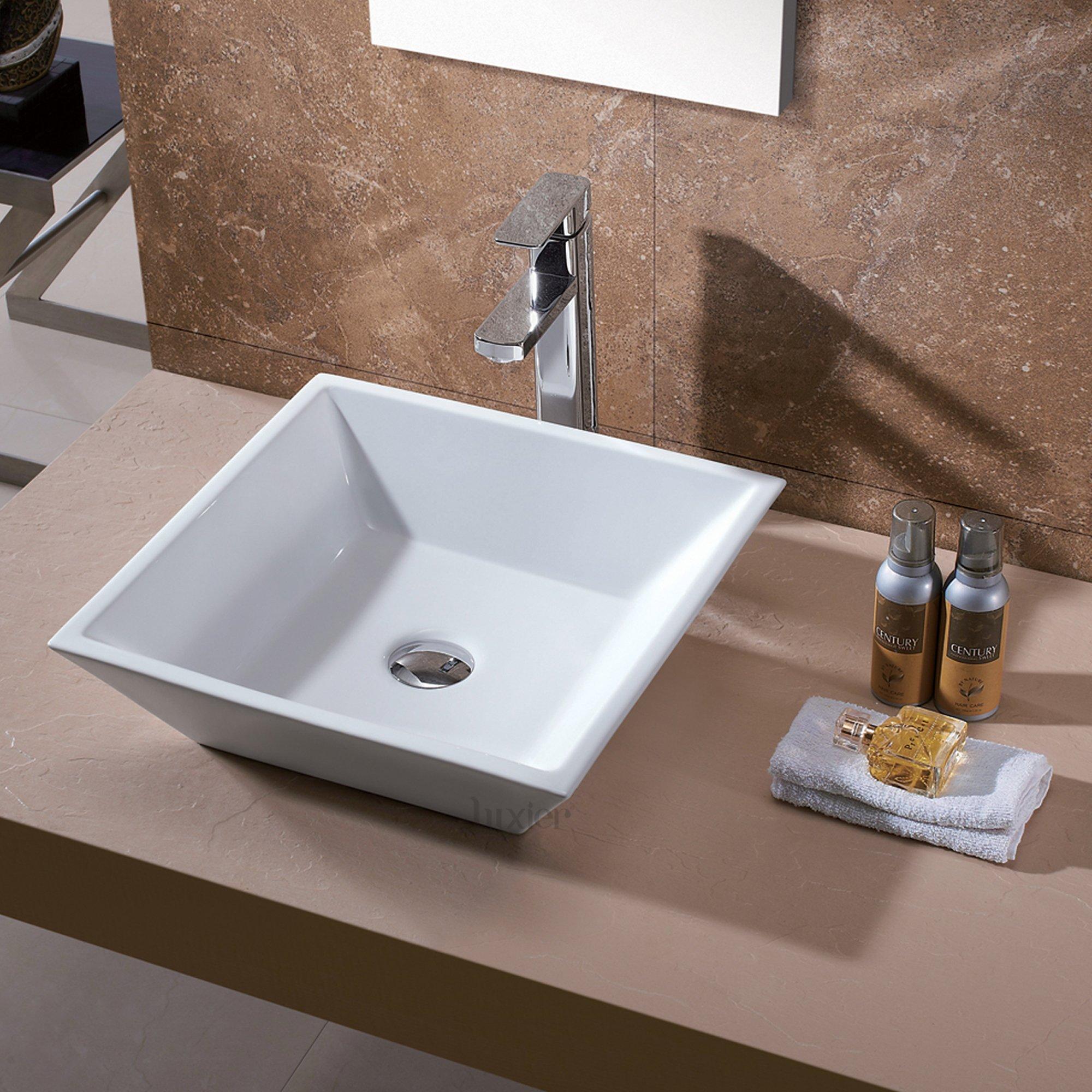 Luxier CS-006 Bathroom Porcelain Ceramic Vessel Vanity Sink Art Basin by Luxier